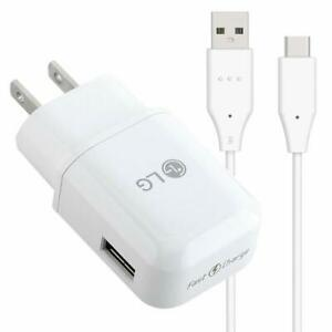 Original LG Stylo 5 Fast Rapid Quick Wall charger with 4 Feet Type C USB C Cable