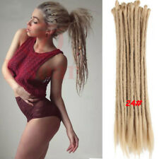 "5Pcs 20"" Afro Synthetic Dreadlocks Twist Crochet Braid Dreads Hair Extension 24#"