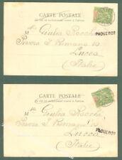 Storia postale. NAVIGAZIONE. Due cartoline del 1902 dal Senegal a Lucca.