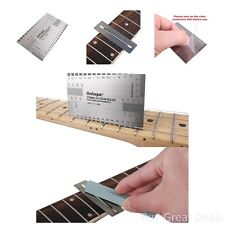 String Action Ruler Fret Wire Sanding Set Tools Electric Bass Acoustic Guitar