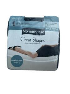 No Nonsense Great Shapes Body Shaping Pantyhose Size D Midnight Blk Sheer Toe