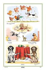 Dog Linen Cotton Blend Tea Towel - Humourous Pointers.....