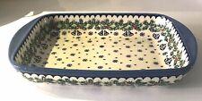 Christopher Radko Polish Country Stoneware Holly Holiday Rectangular Baker