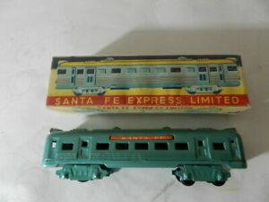 VINTAGE SANTA FE EXPRESS LIMITED TIN LITHO TROLLEY TRAIN- VINTAGE FRICTION TOY