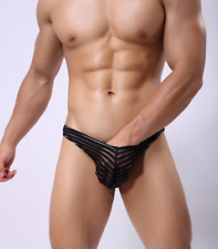String taille M noir transparent NEOFAN sheer mec sexy Ref NY12