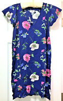 Old Navy Floral Woven Ruffle Sleeve Floral Swing Dress, Blue, Petite Small