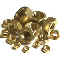 Brass Full Nuts - M1 M1.2 M1.4 M1.6 M2 M2.5 M3 M4 M5 M6 M7 M8 M10 M12 M16