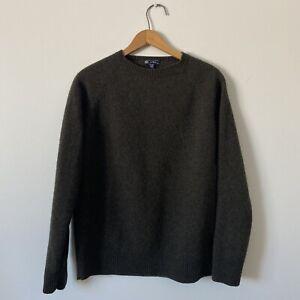 XLT Womans J.CREW Brown 100% Lambswool Crewneck Sweater