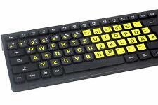 Lacerto® | Deutsche Tastaturaufkleber, extra große Zeichen, versch. Größen