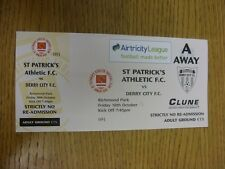 18/10/2013 Ticket: St Patricks Athletic v Derry City  (complete). Thanks for vie