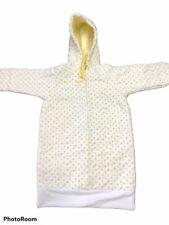 Vintage Flannel Bunteen Floral Newborn W/mittens Yellow Flowers Snuggler