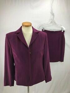 Valerie Stevens Women's Plum Skirt Suit 8P