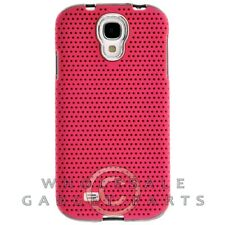 Samsung Galaxy S4 Hybrid Mesh Case Chrome Hot Pink Cover Shell Protector Guard
