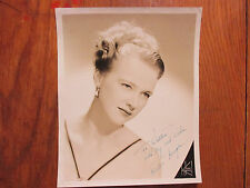 """KIRSTEN  KENYON (""""Song  of  Norway"""") Signed  8 X 10  Black & White  Glossy Photo"""