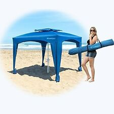 NEW Large Cabana Beach Umbrella Sun Shelter UV Tent Canopy Outdoor Camping Blue