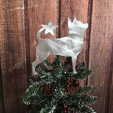 Chihuahua, Dog, Christmas Tree Topper, Holiday Decoration, Metal, Dog Lover Gift