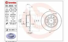 2x BREMBO Bremsscheiben hinten Voll 253mm für VOLKSWAGEN CADDY EOS 08.9502.11
