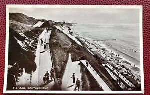 Zig Zag Southbourne Dorset  Post Card