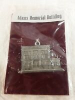 Aitkens Pewter Adam's Memorial Building Ornament Souvenir