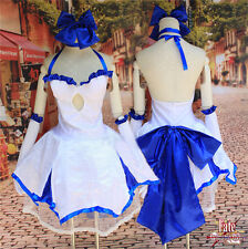 Saber Lily Cosplay Costume Full dress Of  Anime Fate stay night Hot Cos Prop