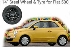 "14"" Steel Wheel Rim & 175/65 R14 Tyre for Fiat 500 1.2 Pop Colour Therepy"