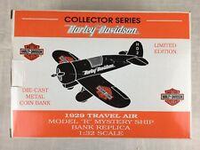 "Harley Davidson 1929 Travel Air Model ""R"" Mystery Ship Airplane Bank"