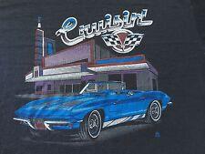 VINTAGE 1986 CRUISIN' SHIRT chevrolet corvette racing car nascar vtg SOFT & THIN