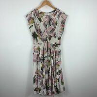 Lazy Bones Dress Womens Large Multicoloured Geometric Sleeveless V-Neck