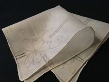 #4331🌟Vintage 30s Madeira Art Nouveau Shadowwork Wedding Handkerchief Heirloom