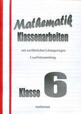 Mathematik-Klassenarbeiten Klasse 6, Loseblattsammlung mit Lösungen