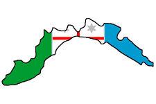 "Auto Aufkleber Italien Region "" LIGURIEN "" Sticker 11x5 cm konturg."