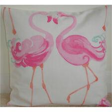 "Laura Ashley Pretty Flamingo 18"" Cushion Cover Pink Duck Egg 18x18 NEW Nursery"