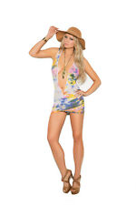 Opaque Deep V Mini Dress Exotic Adult Woman Clothing Tie Dye Summer