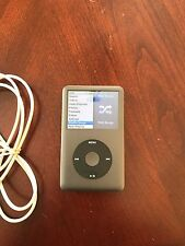 USED IPOD CLASSIC 7th GEN BLACK 160 GB w/EXTRAS - 7040 songs