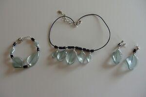 Halskette Armband Ohrringe aus  original Muranoglas Schmuck aus Glas Handarbeit