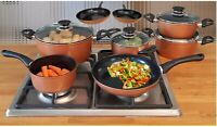 IN-HOME Supertherm Ceramic Copper Style Cookware 12 Piece Pan set