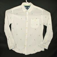 Tommy Hilfiger Button Up Shirt Men's Size Large New York Fit Embroidered Palms
