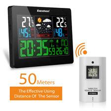 Station Météo Couleur LCD Wireless Prévisions Température Humidité Ex/Intérieur