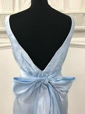 Jim Hjelm bridesmaid/prom or special occasion short dress size 10 in light blue