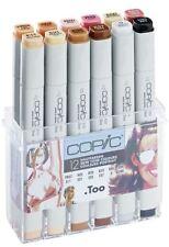 Copic Marker Classico Penne - 12 colori della pelle Set-Graphic Art Markers