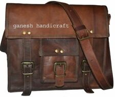 New Leather Vintage Messenger Shoulder Men Satchel Bags Laptop Briefcase Bag