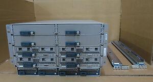 Cisco UCS5108 4x B200 M3 Blade Servers 8 x E5-2650 V2 2.6GHz 1024Gb RAM 10G VIC