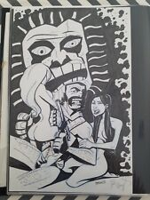 John Broglia original art ZARDOZ 11 x 17 pencil ink Funny Sexy Pinup Awesome