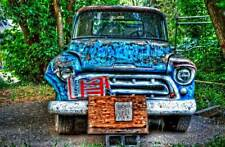 For Sale Truck and Eggs 20x30 Photo Chevy pickup canvas art ready to hang!
