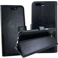 Custodia FLIP cover Nera per OnePlus 5 case stand lucida+tasche booklet nero