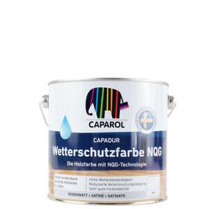 (23,92€/ L)Caparol Capadur Wetterschutzfarbe NQG 2,5l, weiß