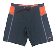 Speedo Men's Boardshort Swim Trunks Size 38 Workout Stretch Tech Bonded Granite