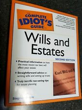 The Complete Idiot's Guide to Wills and Estates *It's a Steal!* Pays for itself!