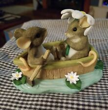 """☆☆Fitz And Floyd Charming Tails """"Row Boat Romance"""" #83/801☆☆"""