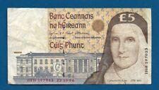 Ireland 5 Pounds 1996 P-75b Sister Catherine McAuley Pre Euro Irish Banknote